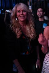 Lindsay Lohan - Duran Duran Concert at Barclays Center in Brooklyn 4/12/2016