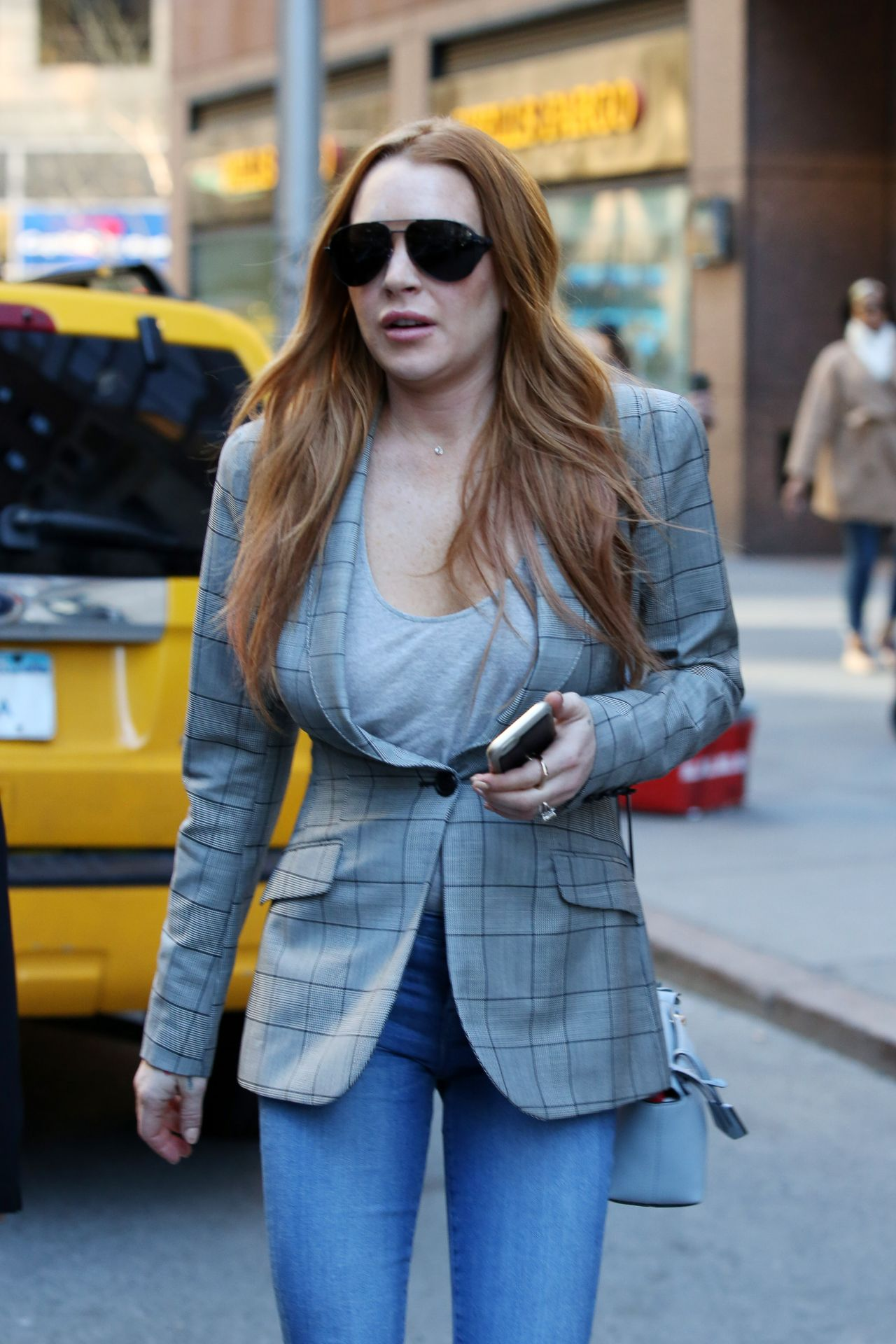 Lindsay Lohan - Out in New York City 4/16/2016 Lindsay Lohan