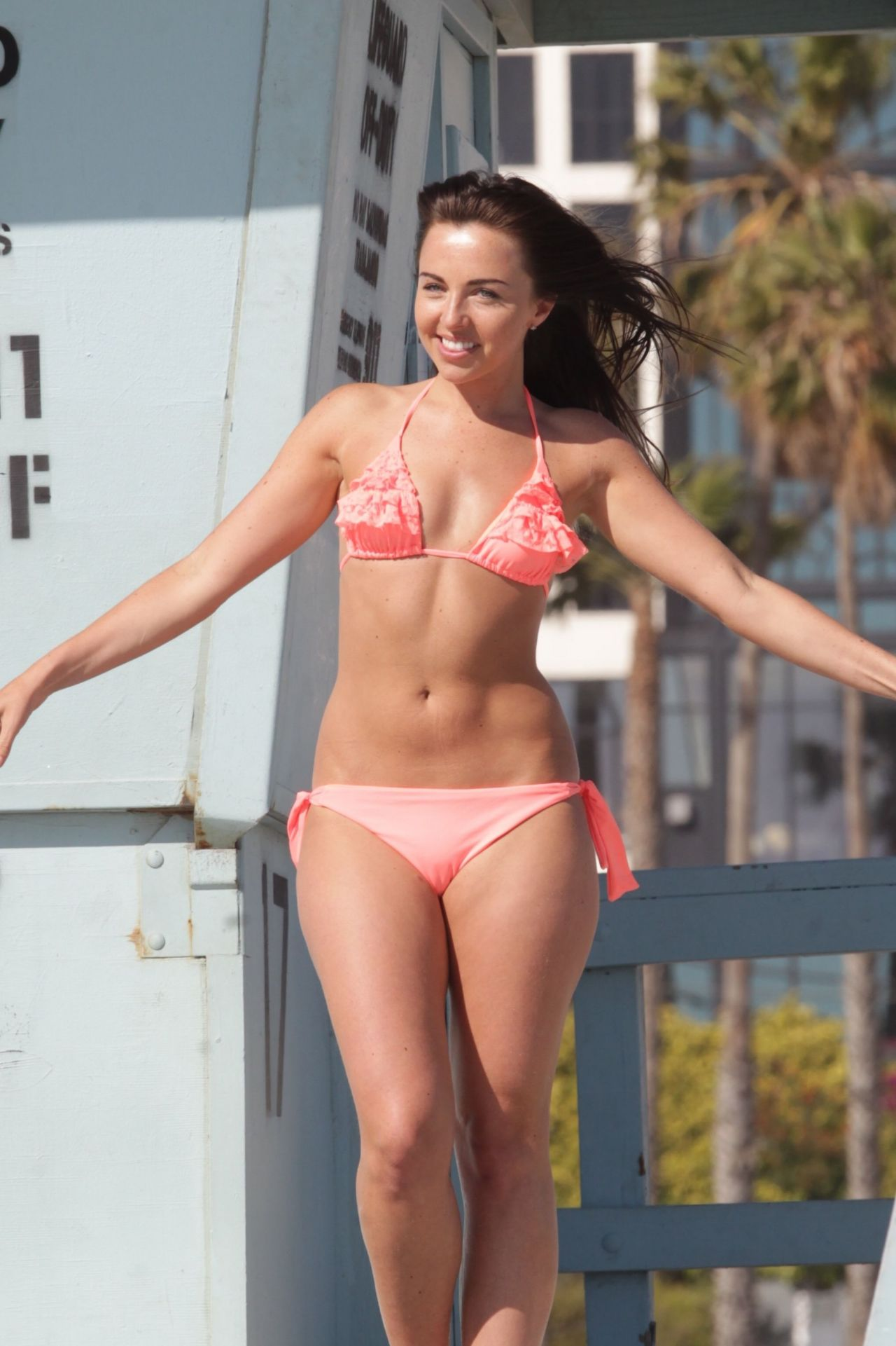 Louisa Lytton Amp Caroline Pearce In A Bikini Santa Monica