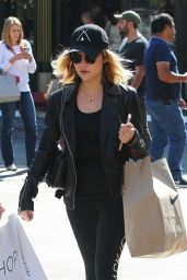 Lucy Hale Casual Style - Shopping at Grove in Los Angeles 4/1/2016