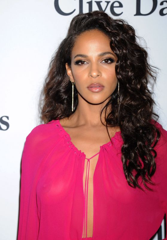 Megalyn Echikunwoke at pre-Grammy Awards Gala in Beverly Hills, February 2016