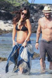 Megan Fox in a Bikini on a Beach in Hawaii 4/22/2016