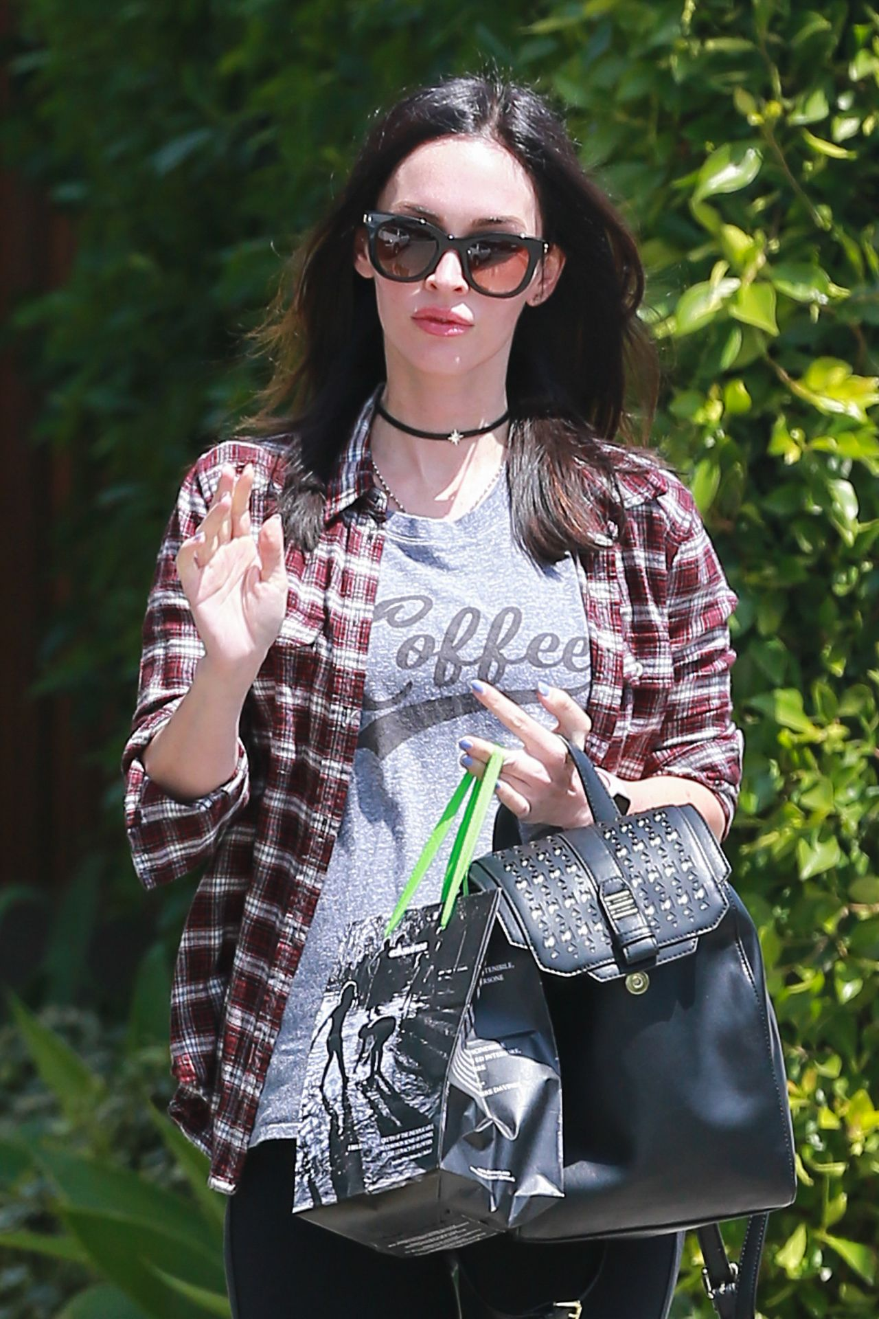 megan fox street style leaving the andy lecompte salon