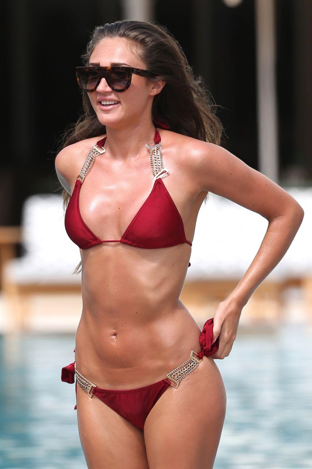 Hottest Bikini Trends Photos: Megan McKenna Hot In Red Bikini