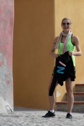 Michelle Hunziker at Beach in Varigotti, Italy, April 2016