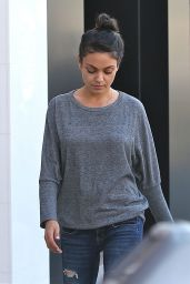 Mila Kunis Street Style - Out in Beverly Hills 4/3/2016