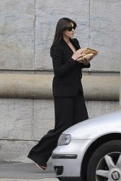 Monica Bellucci Style Inspiration - Arrives at a Hotel in Milan 4/27/2016