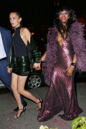 Naomi Campbell and Bella Hadid - After the Launch Party for Taschen