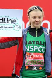 Natalie Dormer at the Virgin Money Marathon in London 4/23/2016