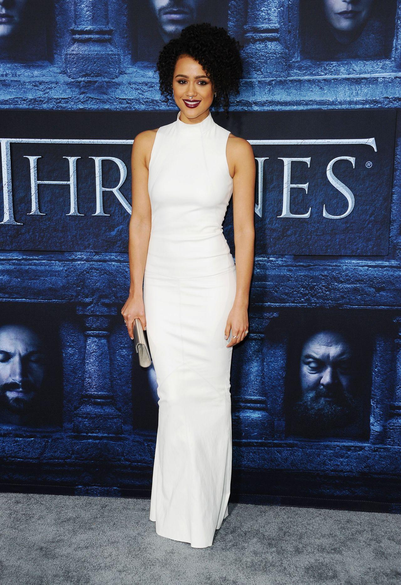 Nathalie Emmanuel Game Of Thrones Season 6 Premiere In