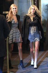 Nicky Hilton and Paris Hilton at Naomi Campbell