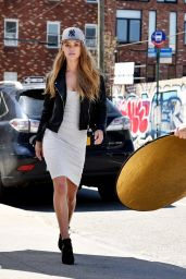 Nina Agdal - New Era Campaign Photo Shoot in NYC 4/13/2016