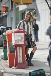 Nina Agdal - Photoshoot in New York City 4/25/2016