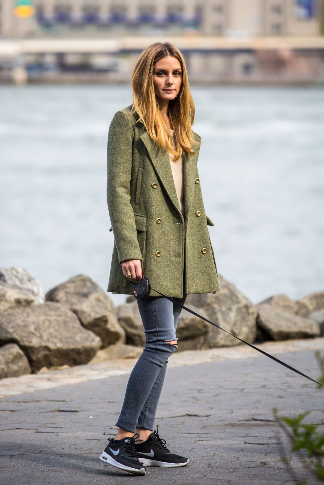Olivia Palermo Taking Her Loyal Companion Mr Butler For