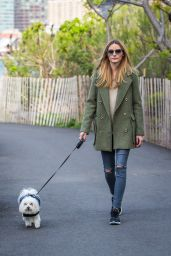 Olivia Palermo - Taking Her Loyal Companion Mr Butler For a Walk in the Park in Brooklyn 4/25/2016