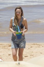 Olivia Wilde in a Bikini at a Beach in Hawaii 4/17/2016