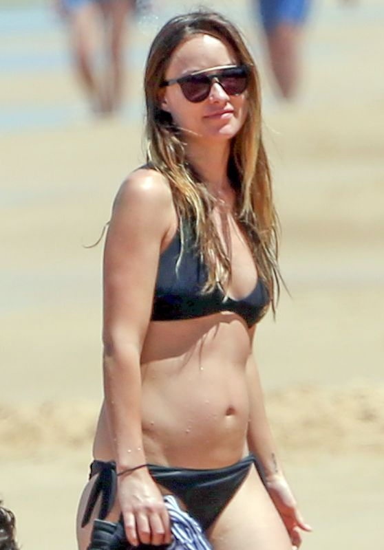 Olivia Wilde in a Bikini at a Beach in Hawaii 4/22/2016