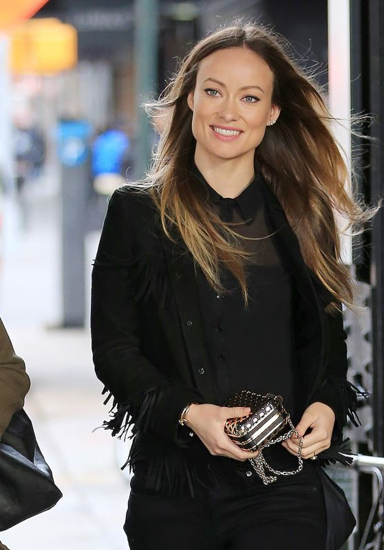 Olivia Wilde is All Smiles - Out in New York City 4/7/2016