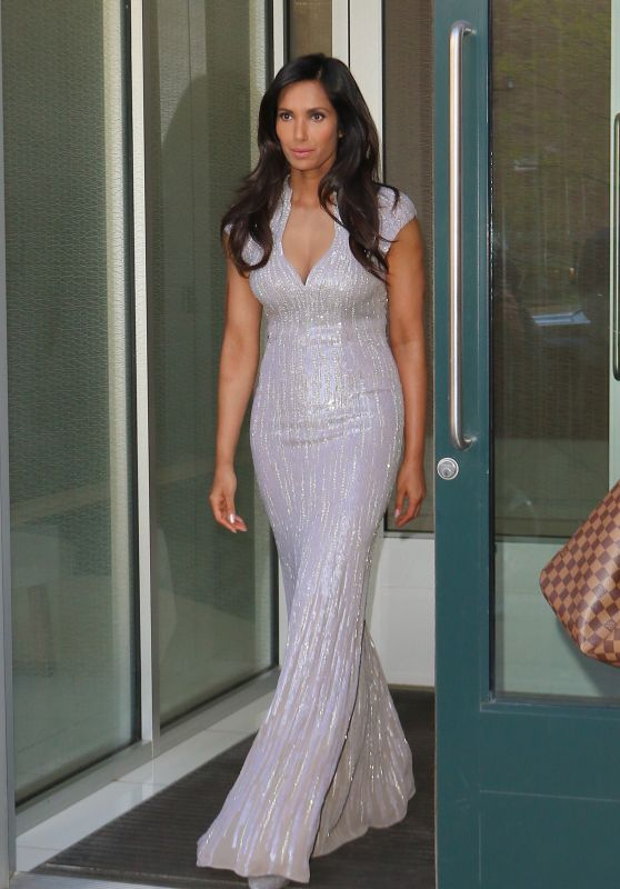 Padma Lakshmi - Steps Out of Her NYC Apt For Annual Blossom Ball 4/19/2016