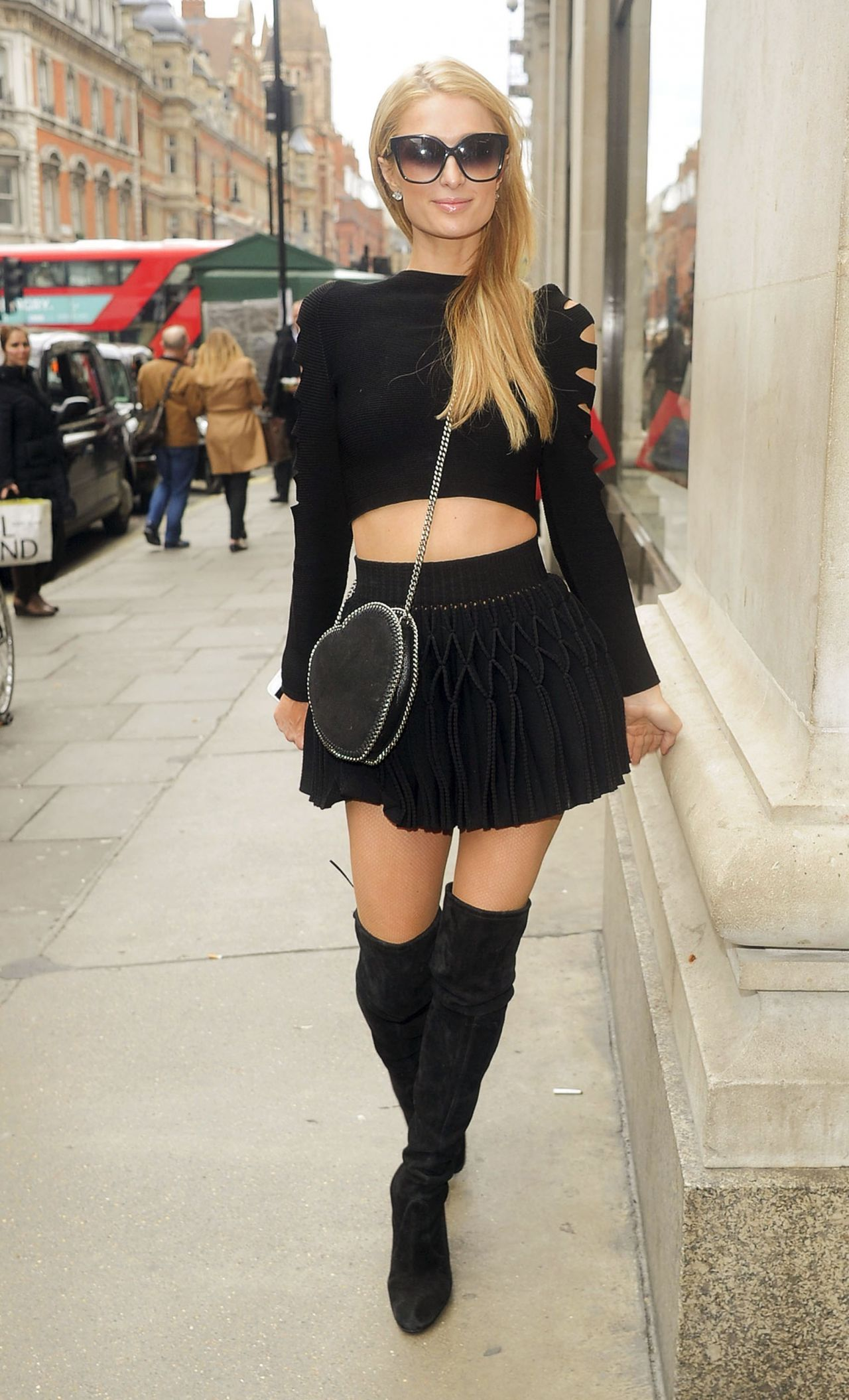 Paris Hilton Casual Chic Outfit Leaving Her Hotel On Her