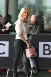 Pixie Lott at BBC Breakfast in London 4/13/2016