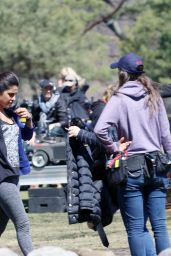 Prinyanka Chopra - Films Scenes for Quantico in Montreal, Canada 4/19/2016