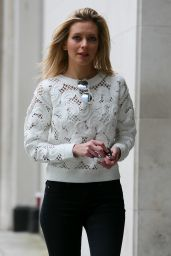 Rachel Riley - Arriving at BBC Radio One in London 4/21/2016