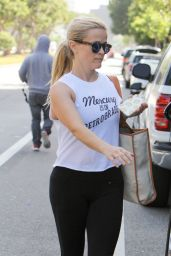 Reese Witherspoon - Leaving Yoga Class in Brentwood 4/25/2016