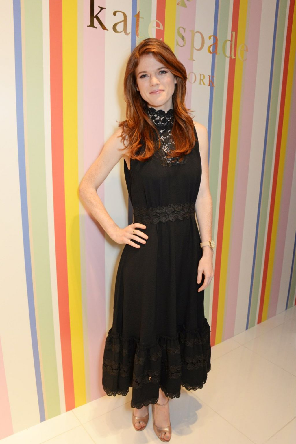 Rose Leslie Kate Spade Ny Store Opening In London