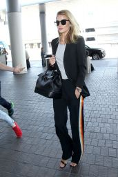 Rosie Huntington-Whiteley Airport Style - at LAX in Los Angeles, CA 4/5/2016
