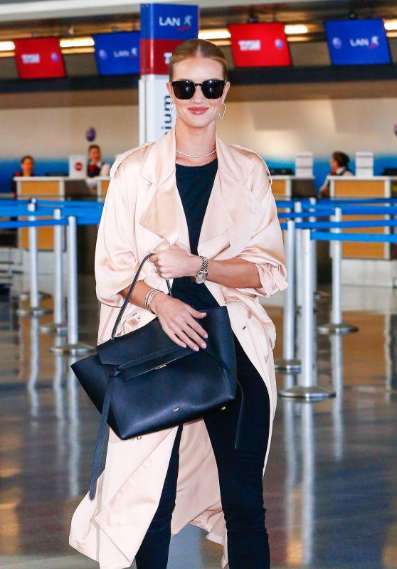 Rosie Huntington-Whiteley Glides Through JFK Airport in NYC 4/27/2016