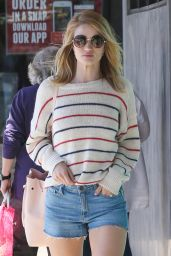 Rosie Huntington-Whiteley in Jeans Shorts - Out in Los Angeles 4/2/2016