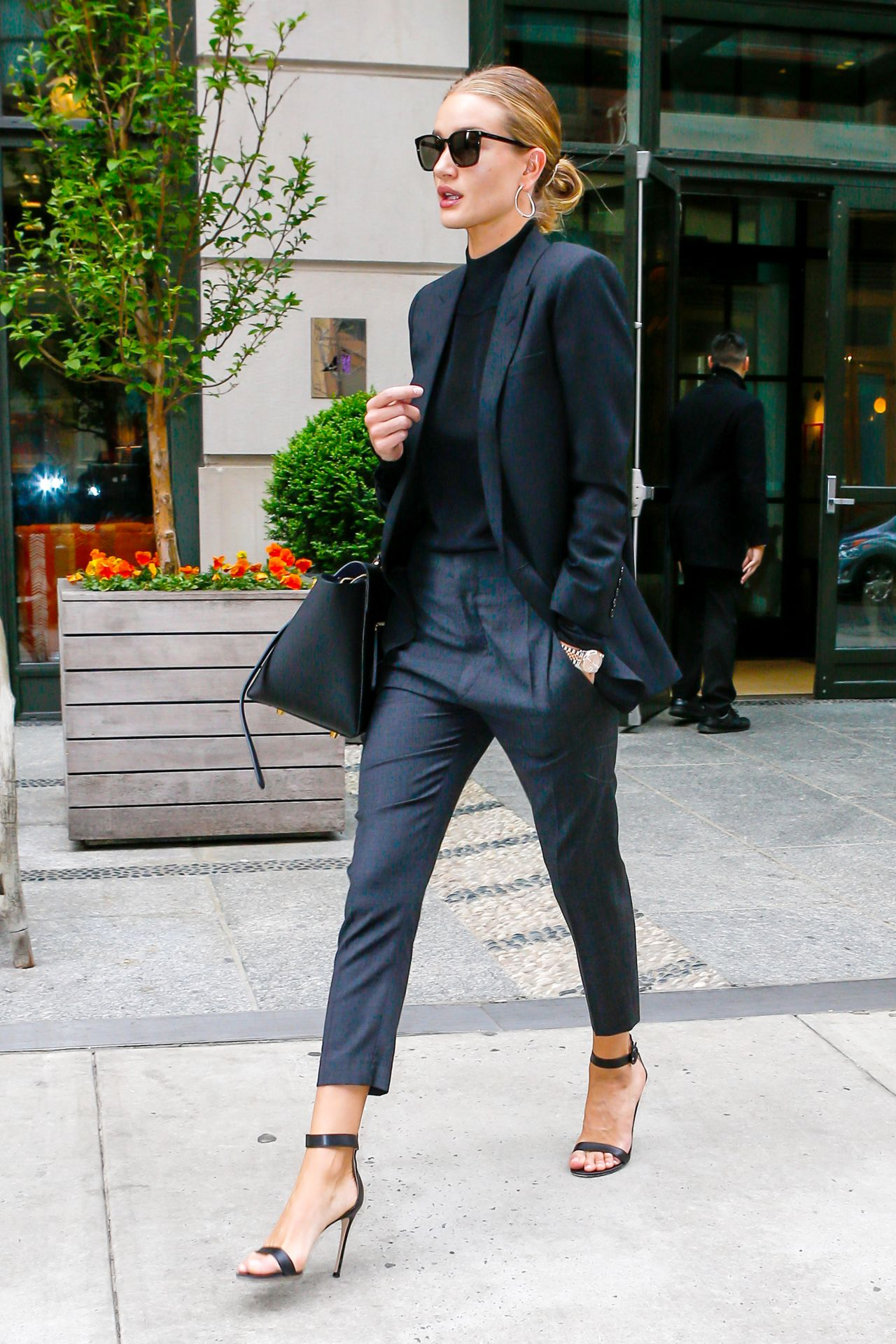 Rosie Huntington Whiteley Is Looking Stylish Leaving Her
