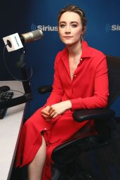 Saoirse Ronan at SiriusXM Studios in New York City 4/21/2016