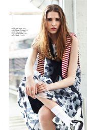 Sara Soric - Elle Magazine Slovenia May 2016 Issue