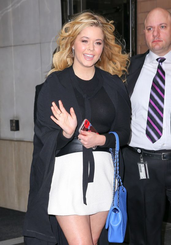 Sasha Pieterse - Leaving Her Hotel in New York City 4/7/2016
