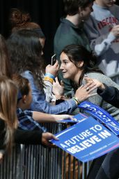 Shailene Woodley - Speaking at a Bernie Sanders Rally in Madison, Wisconsin 4/3/2016