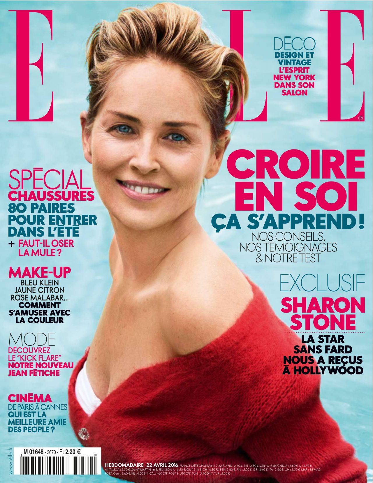 Elle Magazine France February March: Sharon Stone Latest Photos