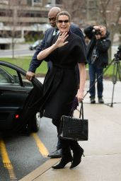 Stephanie Seymour - Arriving at Stamford Conecticut Superior Court in New York 4/4/2016