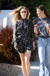 Suki Waterhouse Style  - Zinque Restaurant in West Hollywood 4/01/2016