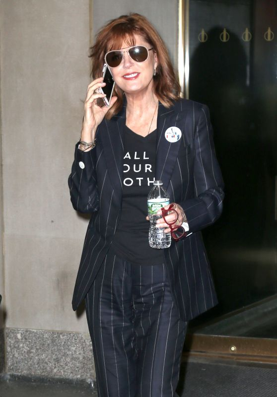 Susan Sarandon at NBC Studios in New York City 4/19/2016