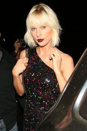 Taylor Swift Night Out Style - Out for Dinner at Il Piccolino Restaurant in West Hollywood 4/28/2016