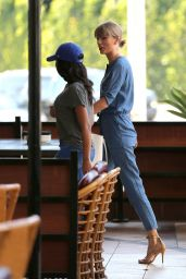 Taylor Swift - Out With a Friend to Lunch at Wokcano, Hollywood 4/4/2016
