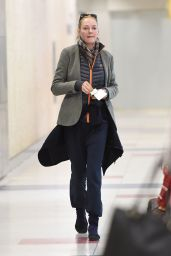 Uma Thurman at JFK Airport in New York 4/28/2016