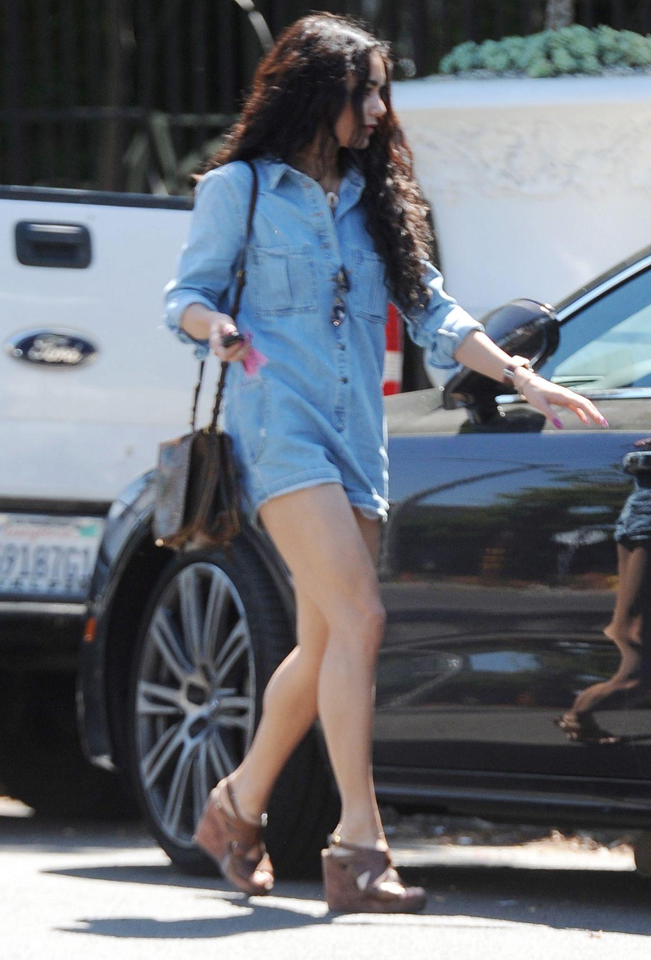 Vanessa Hudgens Flaunts Her Killer Legs Shopping In West