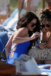 Vanessa Hudgens in a Swimsuit at the Beach in Miami 4/9/2016