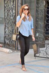 Vanessa Minnillo - Leaving the Melrose Salon West Hollywood 4/1/2016