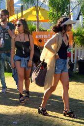 Vanessa & Stella Hudgens - Coachella Valley Music and Arts Festival Indio 4/17/2016