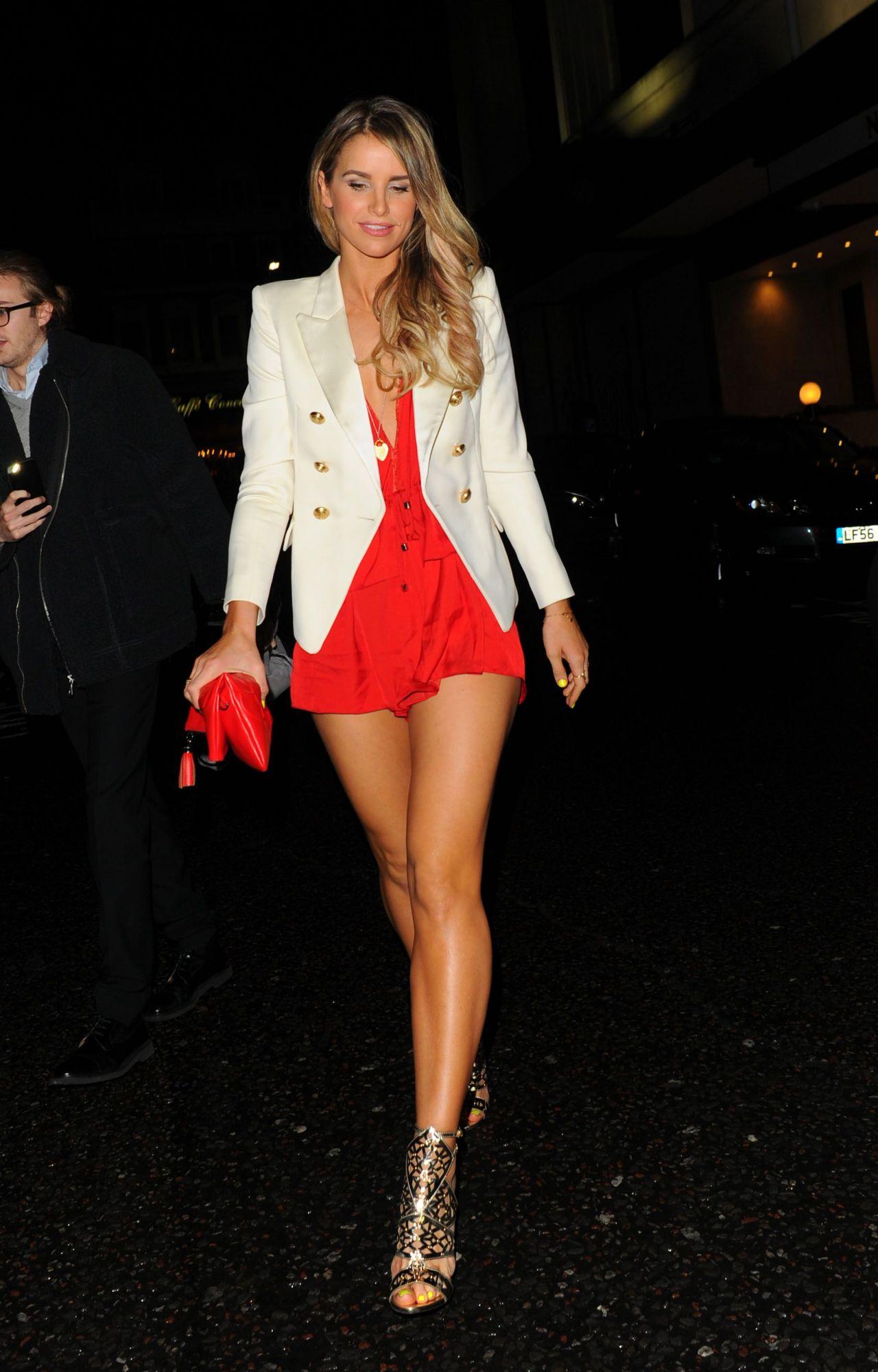 Vogue Williams Shows Legs James Ingham Jog Cancer Event London Kylie Minogue Poses Wax Figure