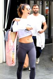 Alessandra Ambrosio in Spandex - Out After Yoga Session in Brentwood 5/14/2016